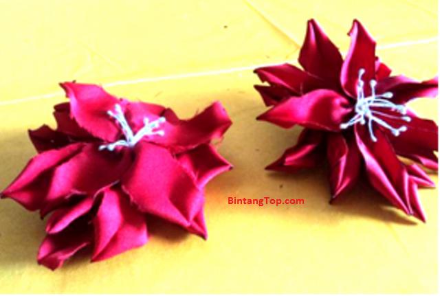 Kanzashi Amarilis – Yuk Membuat Perhiasan dari Kain Perca