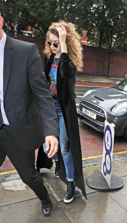 Gigi Hadid's Wild '80s Look in London