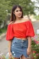 Rhea Chakraborty in Red Crop Top and Denim Shorts Spicy Pics ~  Exclusive 246.JPG