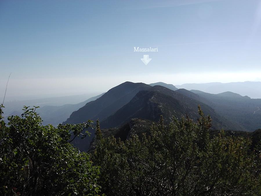 Vistas al Massalari desde La Ratlla