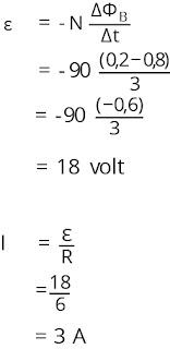 Jawaban soal fisika tentang induksi elektromagnetik nomor 1