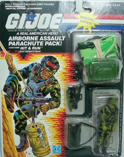 1988 Hit and Run, Target Exclusive, Parachute Pack, Mail Away, 1985, MOC, Filecard, Carded