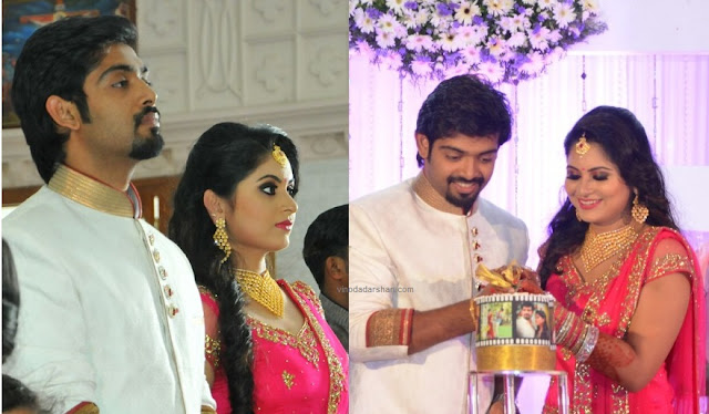 Actress Sruthi Lekshmi -Dr Avin Anto during their Engagement ceremony and reception