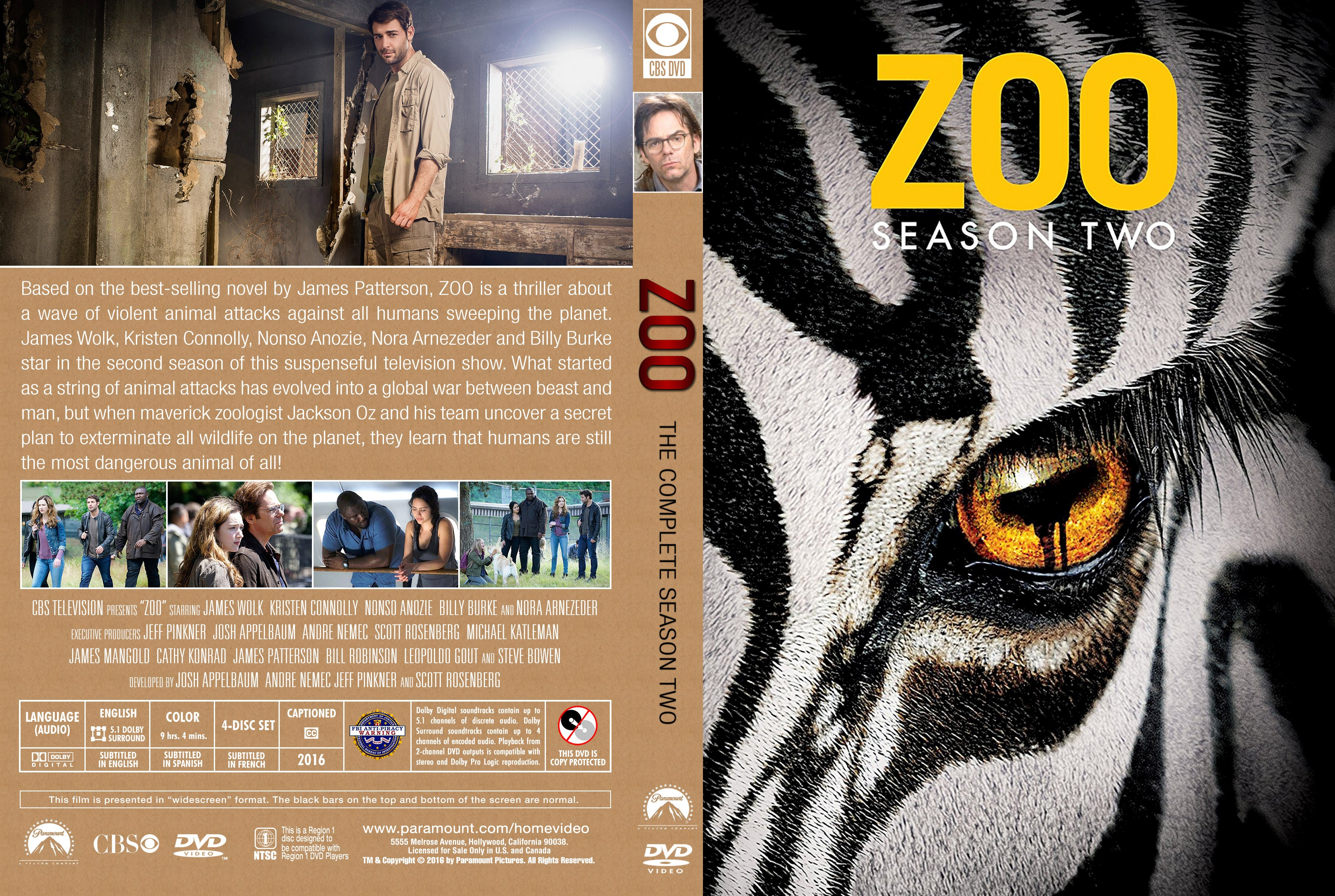 Zoo Season 2 DVD Cover Cover Addict DVD Bluray Covers