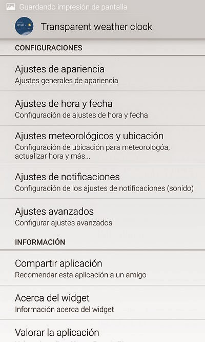 YoAndroideo.com: Transparent weather clock, un widget para de lujo para vuestro Android