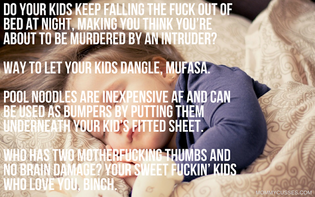 Hilarious and sweary mom hacks parenting tips like Thug Kitchen by Mommy Cusses bedtime