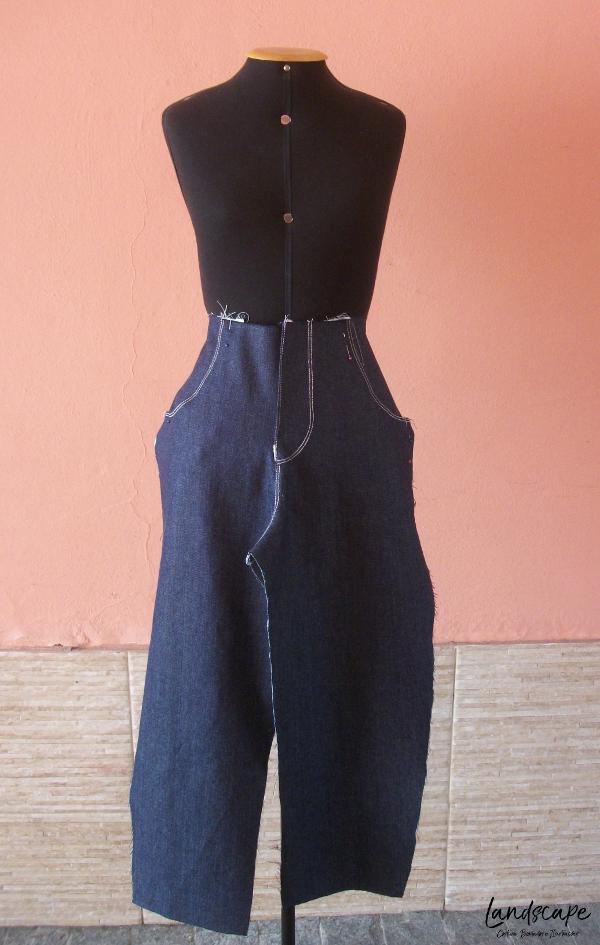 Corte e costura - como costurar uma calça jeans
