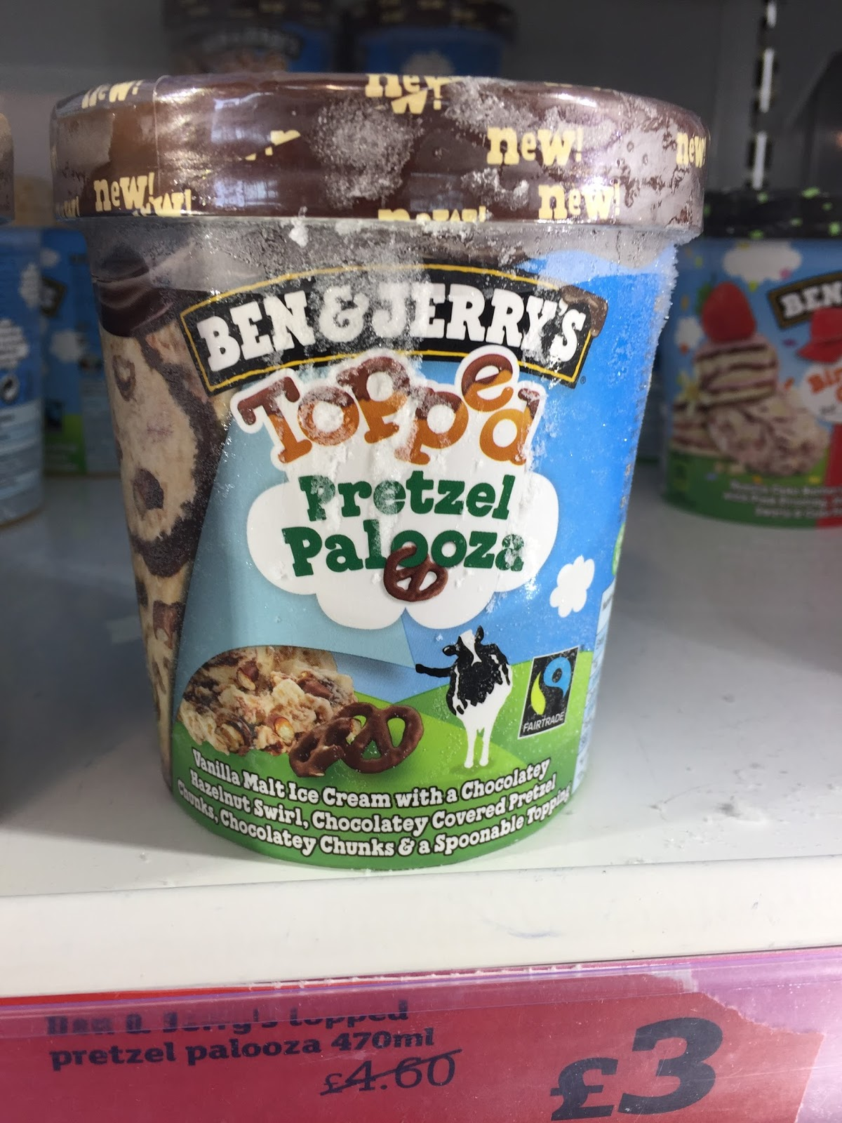 ben jerry s birthday cake topped pretzel palooza spotted in shops