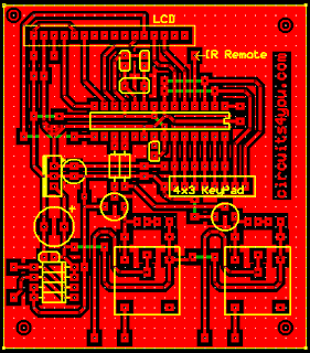 PCB Layout for passward based access system