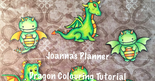 Colouring Tutorial - Dragons Part 1 - Joanna`s Planner