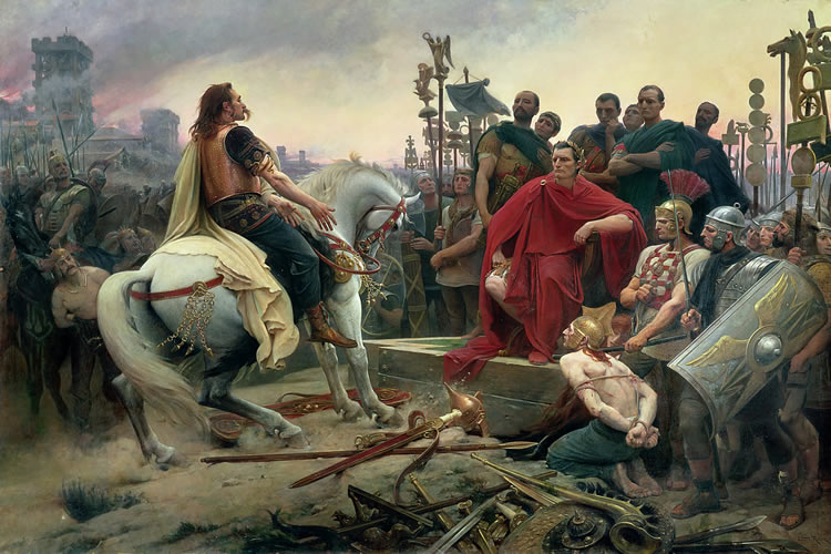 Vercingetorix surrendered and submitted