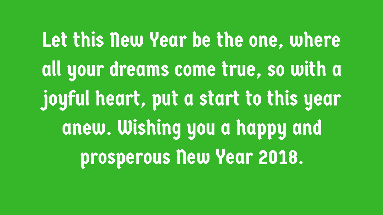 Perfect Happy New Year 2018 Wishes