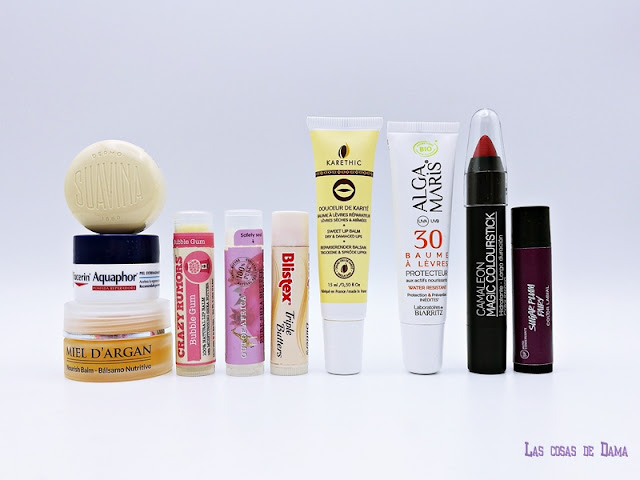 balsamo labial lipcare belleza cuidado labios aquaphor farmacia cosmética natural eucerin argan oil crazyrumors primor suavina karethic alga maris camaleon lush blistex out of africa karité crazy rumors
