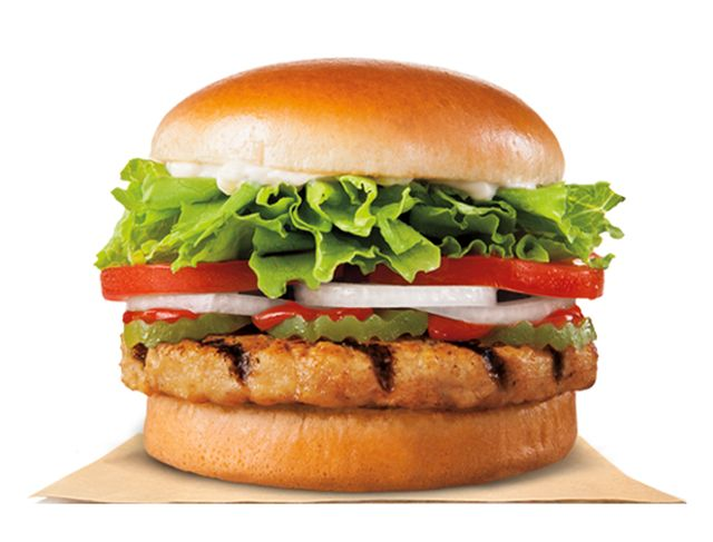 Top 5 Healthiest Fast Food Meals - Burger King New Chicken Burger