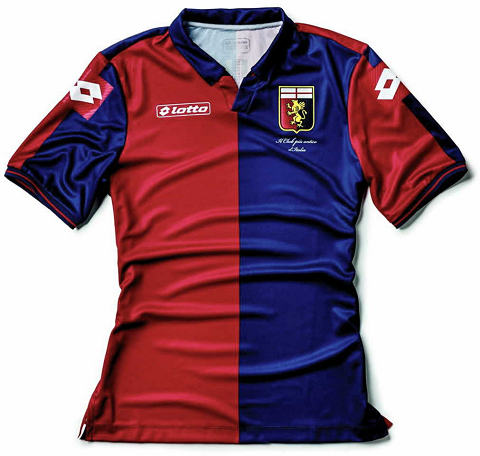 Lotto divulga as novas camisas do Genoa - Show de Camisas ae868d038fbb8