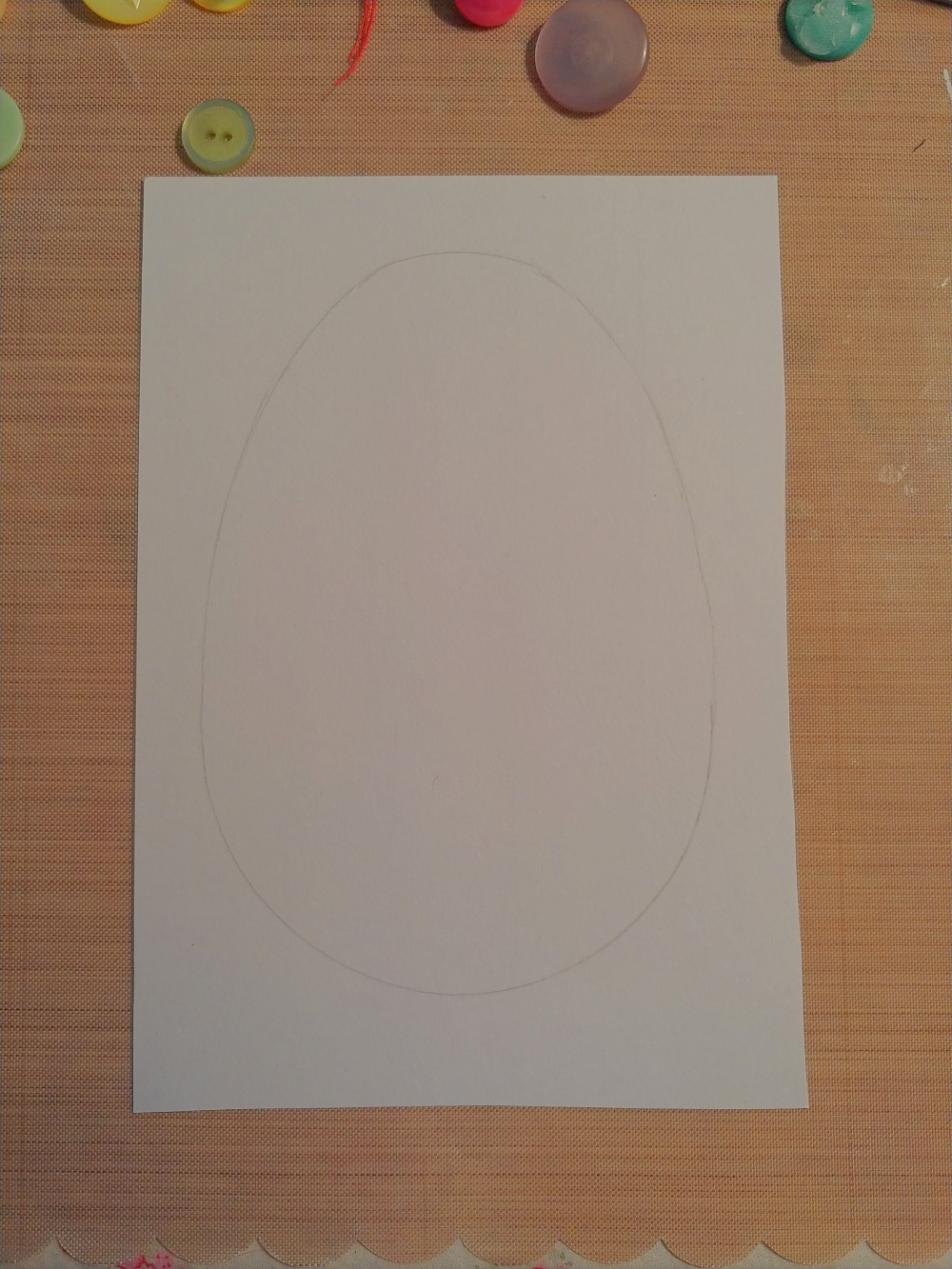 how to draw an egg shape
