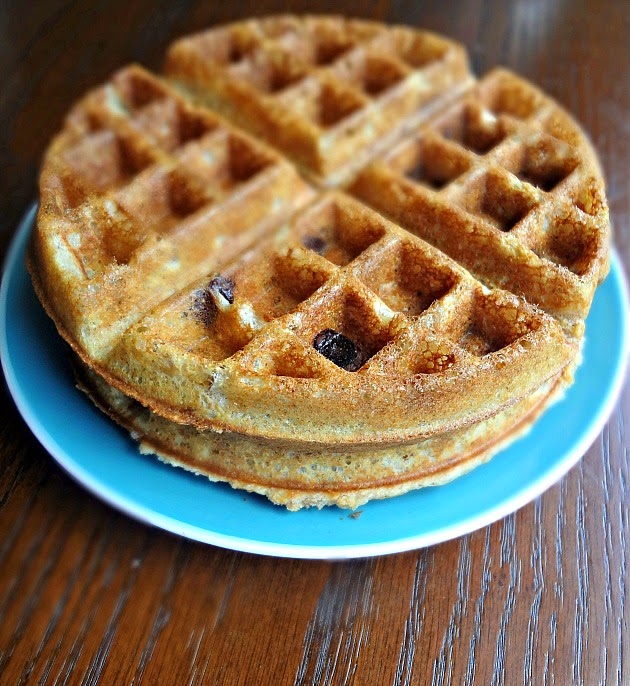 Whole Wheat Granola Waffles