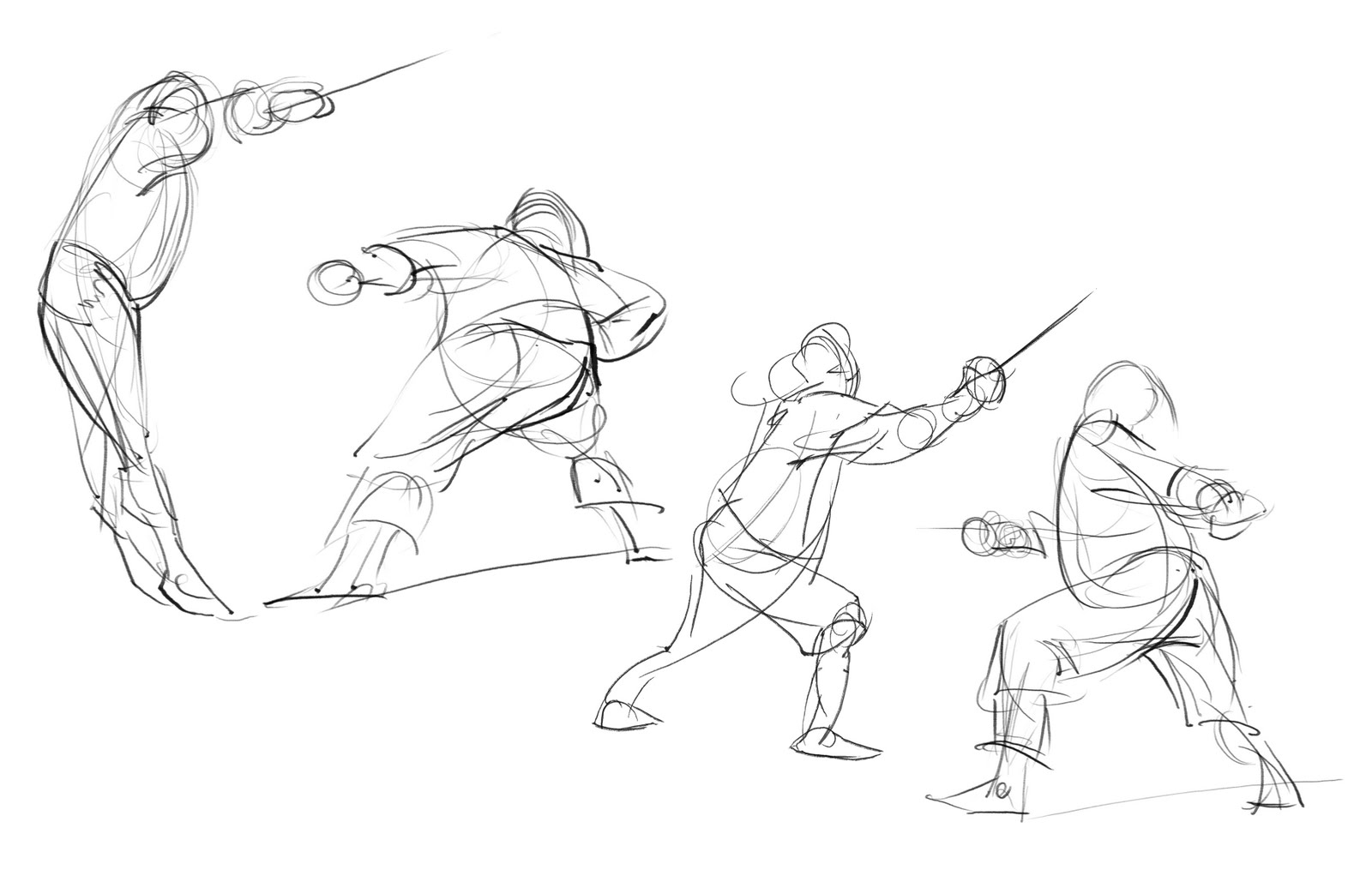This is a photo of Dramatic Sword Poses Drawing