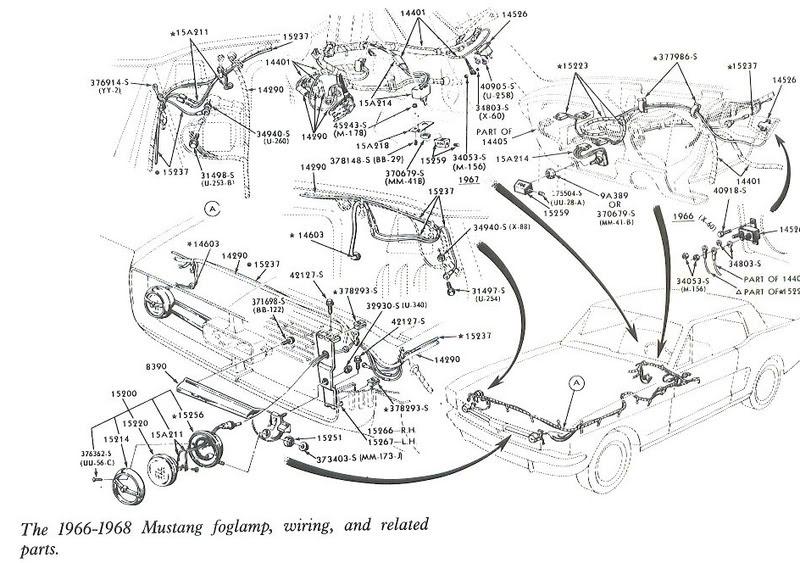 Free Auto Wiring Diagram: 19661968 Mustang Foglamp Wiring