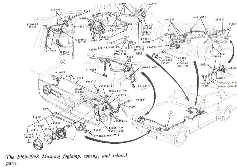 Free Auto Wiring Diagram: 1966-1968 Mustang Foglamp Wiring