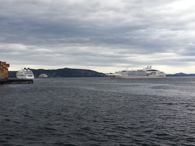 Cruise ships Le Boreal & Le Soleal in Bergen, Norway; Compagnie du Ponant; Fjords cruise