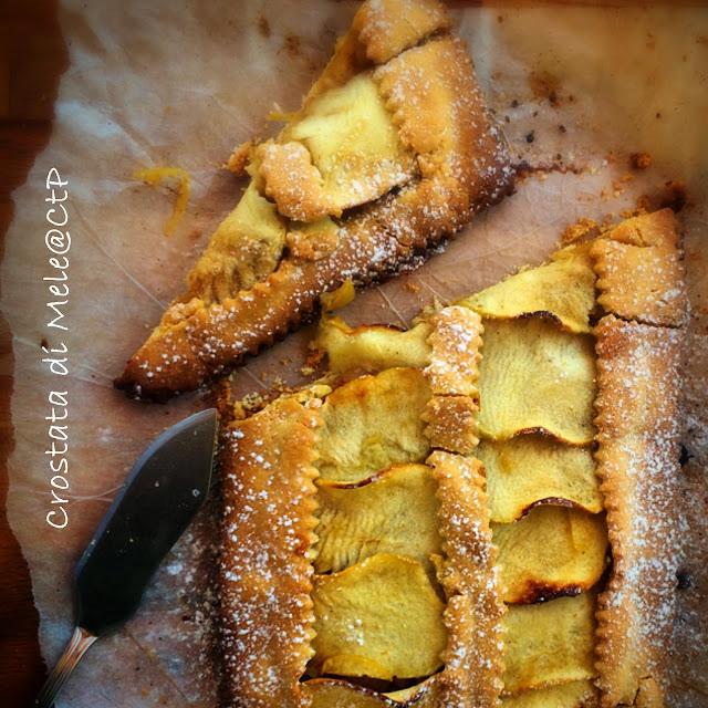Crostata di Mele , pinoli zenzero e cannela burro galbani alessandra ruggeri cuoca a tempoperso