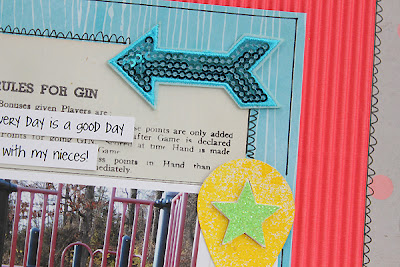 Paper Bakery June Scrapbook Kit Layout Sketch Challenge #7 by Juliana Michaels detail
