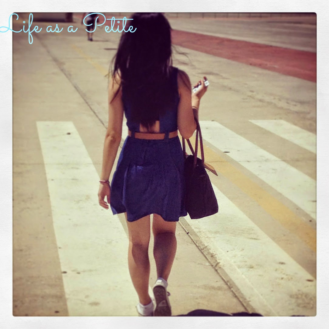 Petite Outfit Idea: Cut Out Denim Dress (Life as a Petite)