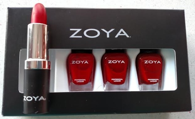 Zoya Lips and Tips Quad Red