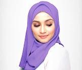 Kerudung Hijab Polos Segiempat Ungu Muda Aitana
