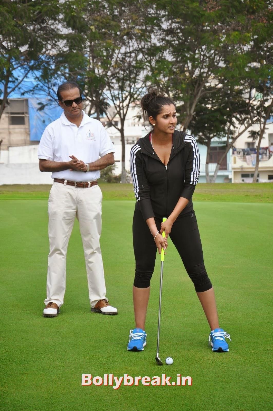 ,  Sania Mirza Playing Golf at Cancer Crusaders Invitation Cup