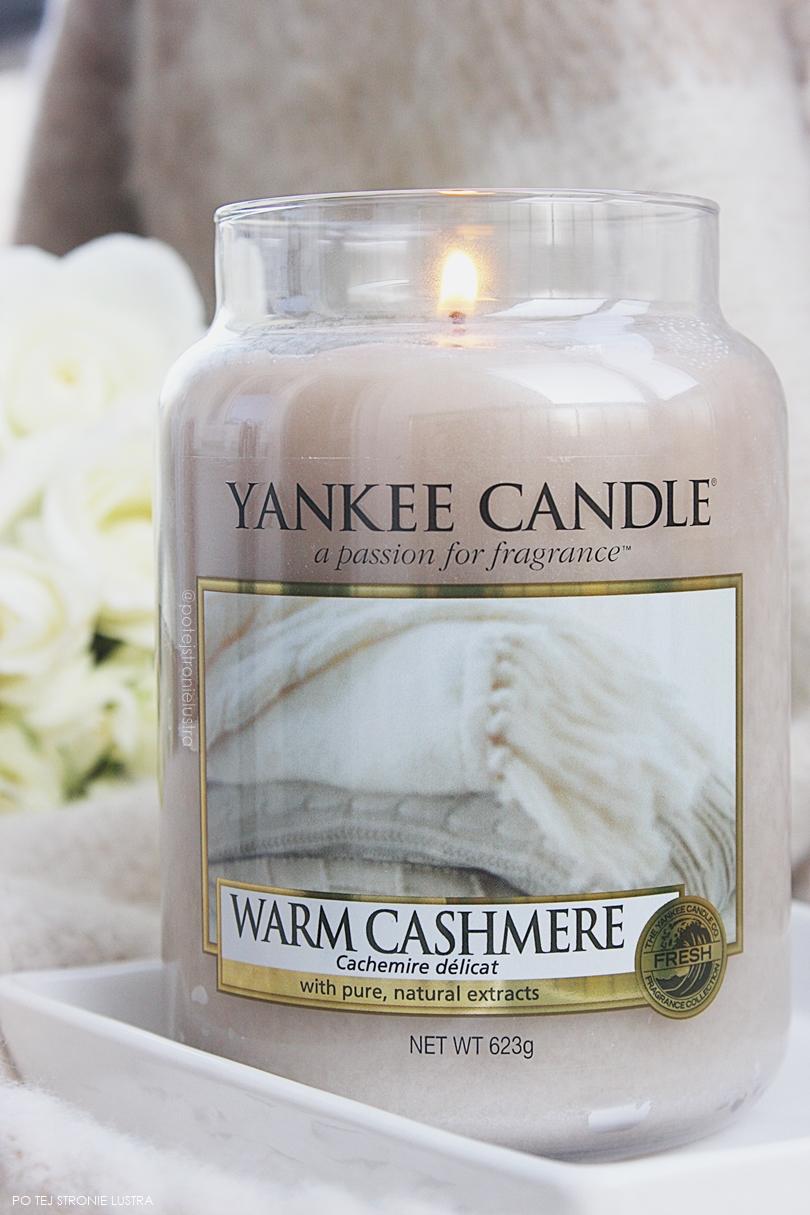 duża świeca zapachowa yankee candle warm cashmere