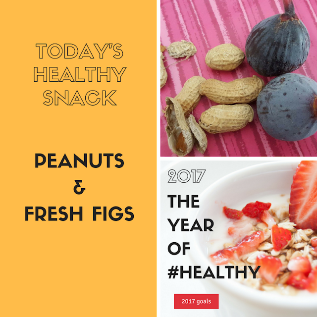 Today's Healthy Snack: peanuts & fresh figs