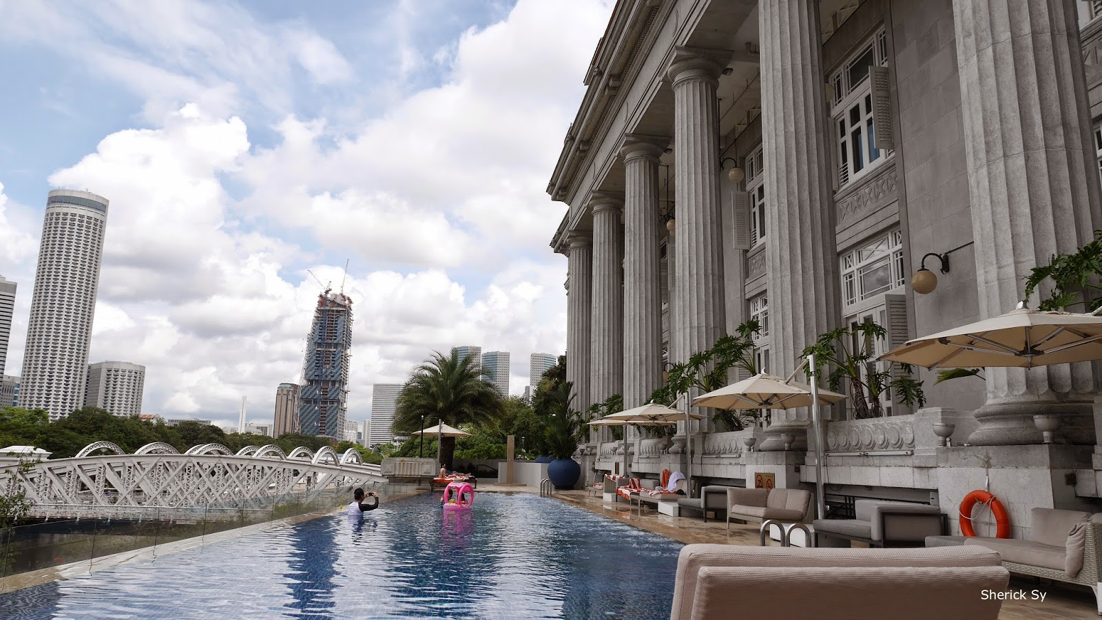 Swimming Pool at Fullerton Hotel, Singapore