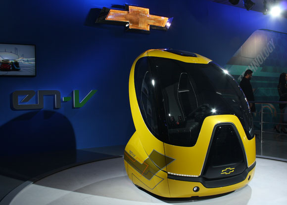 They Have Been Displaying Thechevrolet En V Around The Globe At Auto Shows Stands For Electric Networked Vehicle