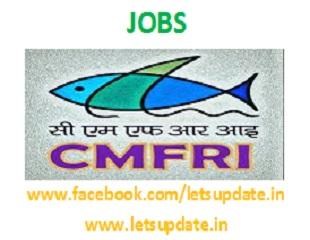 Jobs@ CMFRI-letsupdate