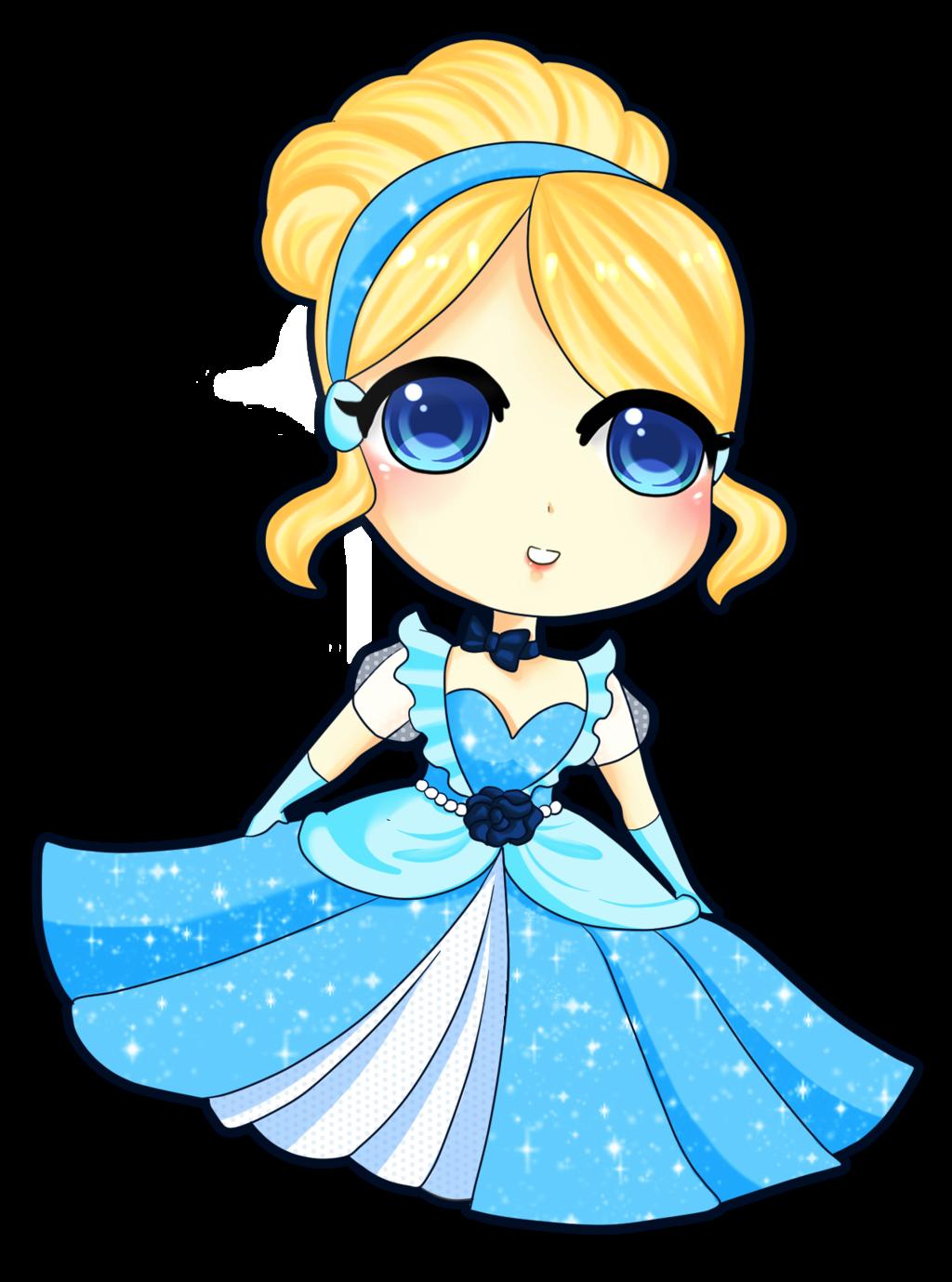 princess Cinderella chibi công chúa cô bé lọ lem 1