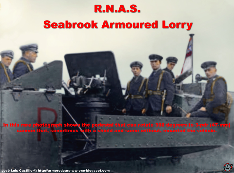 Le camion blinde Seabrook de 1914 (maquette Azimut en résine 1/35) RNAS-Seabrook-Armoured-Lorry