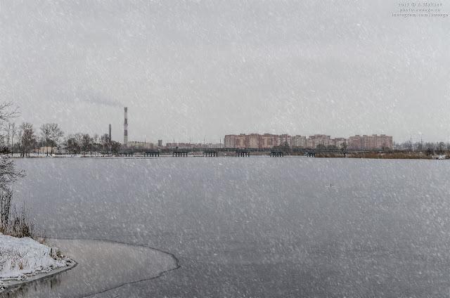 Заснеженный город Колпино