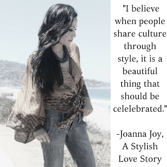 meaningful quote Joanna Joy A Stylish Love Story Blog petite fashion blogger lifestyle blogger beach photo california beaches Frankie B. denim African inspired print kimono top green necklace long black hair Califoria fashion blogger boho chic global chic global fashion