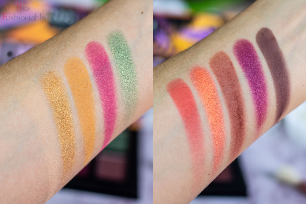 NYX Professional MakeUp Off Tropic Shadow Palette Shifting Sand Swatches