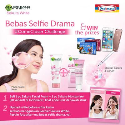 Garnier Sakura White Bebas Selfie Drama - Indomaret