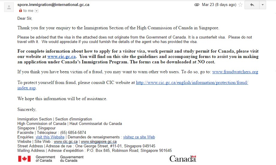 Canada Tourist Visa From India