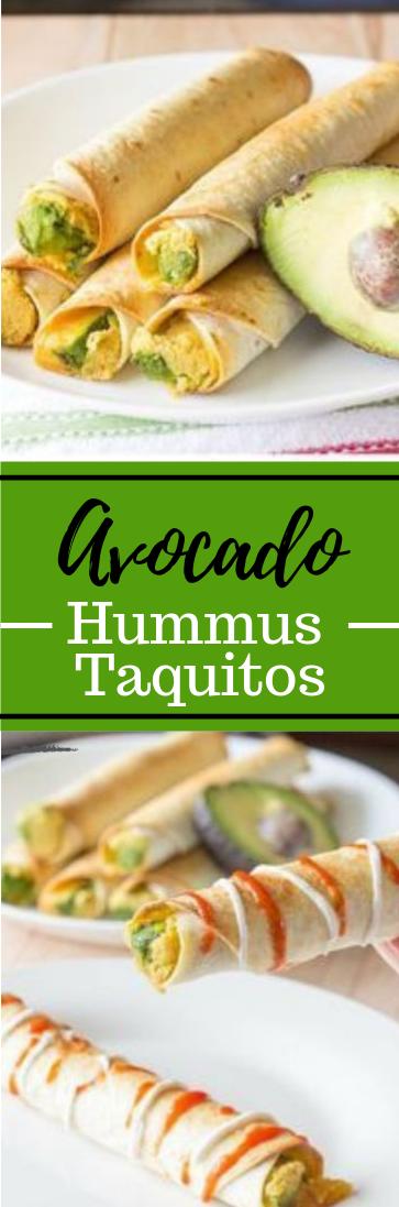 Avocado Hummus Taquitos #healthyfood