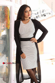 Telugu Actress Karunya Chowdary Stills in Black Dress at Soda Goli Soda Movie Opening  0133.JPG