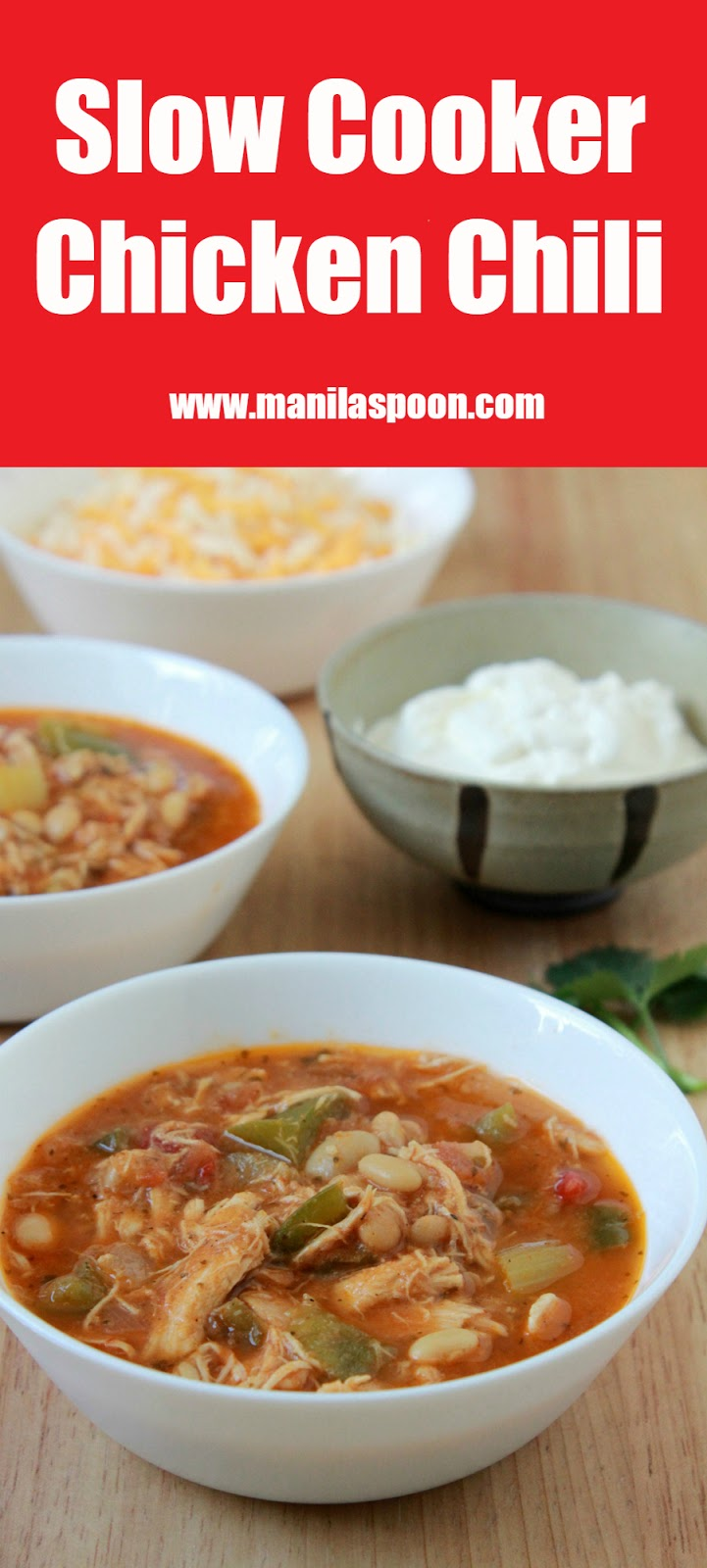 I have made this chili many times for my family and friends and it's always well loved and the super easy recipe is often requested. #slowcooker #chicken #turkey #chili