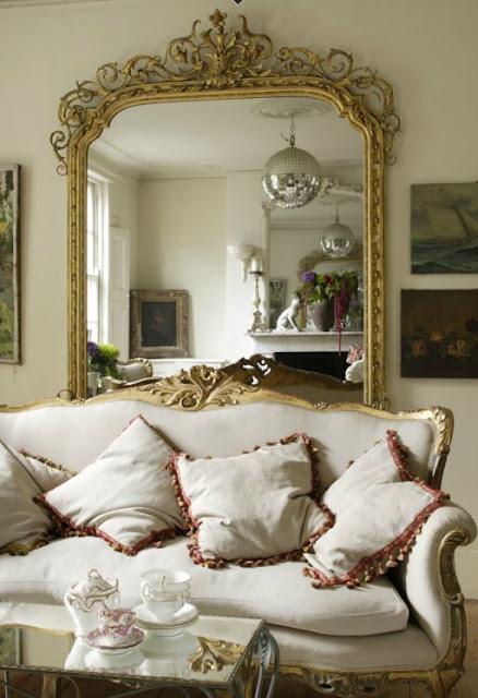 molduras provençais para espelhos