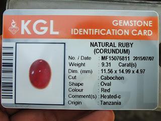 sertifikat batu ruby