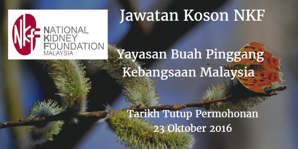 Jawatan Kosong NKF 23 Oktober 2016