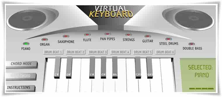 Virtual piano keybord online